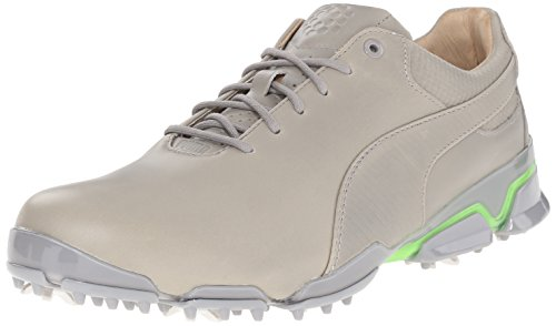 Puma Mens Titantour Ignite Premium Golf Scarpa Da Golf Drizzle / Green Gecko