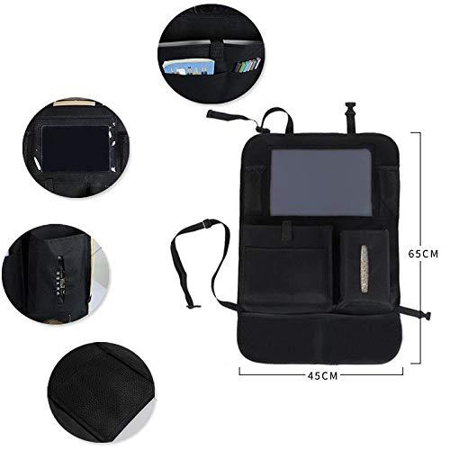 Haodou Protezione Sedile Auto Borsa per Bagagliaio Auto,Organizer per Bagagliaio per SUV e MPV Tenere la Auto Protezione Sedile Auto Bambini Porta Tablet Auto Tasche per Riporre Gadget Auto