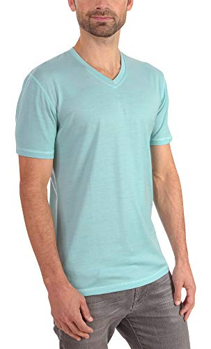 Foundation Anti Time (Woolly Clothing Men's Merino Wool V-Neck Tee Shirt - Everyday Weight - Wicking Breathable Anti-Odor M MRN)