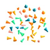 #7: Finico 48 Pcs Knitting Needles Point Protectors/ Stoppers For Knitting Craft (2 Sizes)