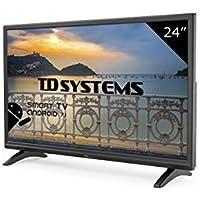 TD Systems K24DLM8HS - Téléviseur 24 Pouces LED HD Smart, Résolution 1366 x 768, HDMI, VGA, 2X USB, Smart TV