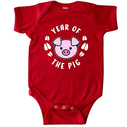 inktastic - Year of The Pig Chinese Zodiac Infant Creeper 6 Months Red 3359a
