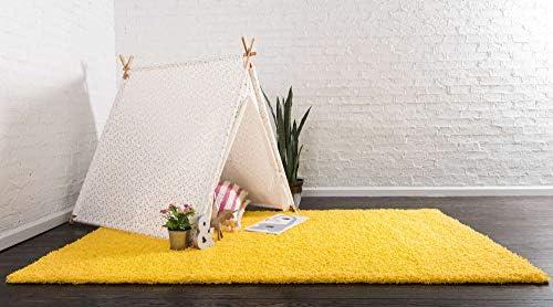 Amazon.com: Unique Loom Solo Solid Shag Collection Alfombra ...