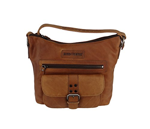 HILL BURRY Damen Herren Tasche Bag Leder, braun, Schultertasche 4090