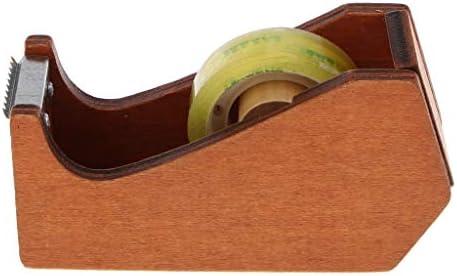 木製 テープカッター テープディスペンサー 付着力ロール ホールダー 飾りテープ 文房具