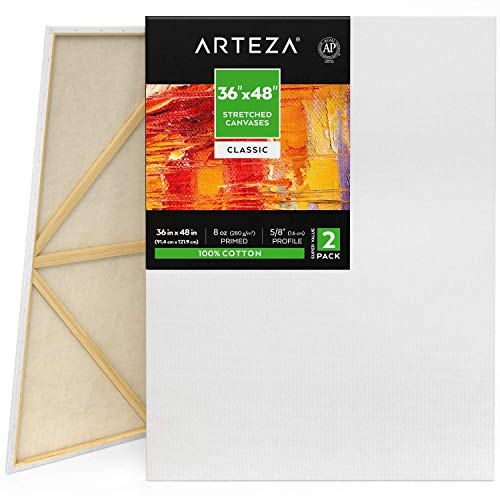 Arteza 36x48 Stretched White