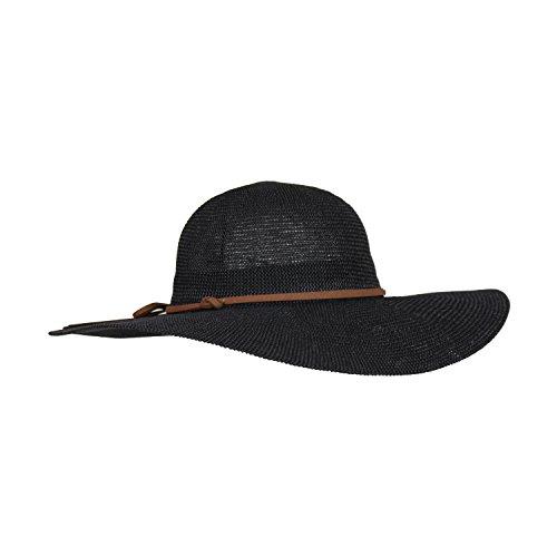 Adjustable Black Lightweight Sun Hat for Women w/Hatband, Floppy Straw Crochet Hat w/Brim (Suede Hat Straw)