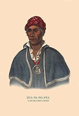 "Qua-Ta-Wa-Pea (A Shawanoe Chief)Fine art canvas print (20"""" x 30"""")"