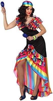 Disfraz de Rumbera para mujer talla M-L: Amazon.es: Juguetes y juegos
