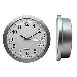 2017 New Arrival Digital Wall Clock Hidden Secret Safe Money Stash Jewellery Stuff Storage Container Box,Silver,25X7cm