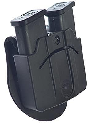 ORPAZ Defense Active retention ajustment ROTO rotation tactical paddle holster + Double magazine pouch for Heckler Koch H&K HK P30 / USP COMPACT 9 / .40 / USP – 45. 45C. BUL M-5