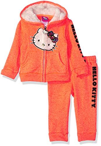 Hello Kitty Baby Girls 2 Piece Hooded Fleece