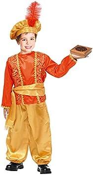 Partilandia Disfraz PAJE Rojo para niño 2-4 años: Amazon.es ...