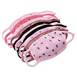 Set of 10 Cute Anti Dust Pollution Latex Free Cotton Bowknot Crown Starry sky Face Mouth Mask For Women Teenagers Girls