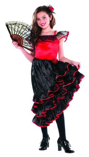 Spanish Dancer Costume - Kids - Large (Spanish Dancer Kids Costume)