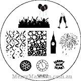 MESSY MANSION MM02 Nail Art Stamping Plate - New Year Theme