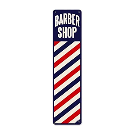Amazon.com: Barbería Polo clásico Metal Sign Corte de pelo ...