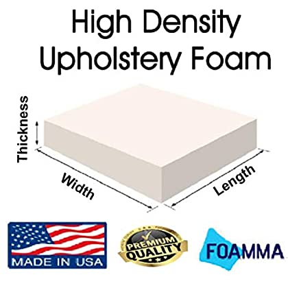 Image of FOAMMA 4' x 30' x 82' Upholstery Foam High Density Foam (Chair Cushion Square Foam for Dinning Chairs, Wheelchair Seat Cushion Replacement) Home and Kitchen