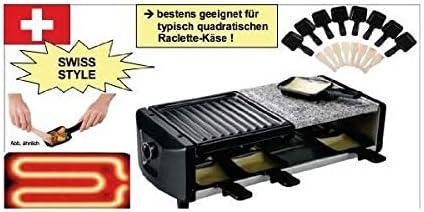 SAVOIE RG83 - Raclette/parrilla de piedra 2 en 1 para 4 personas ...