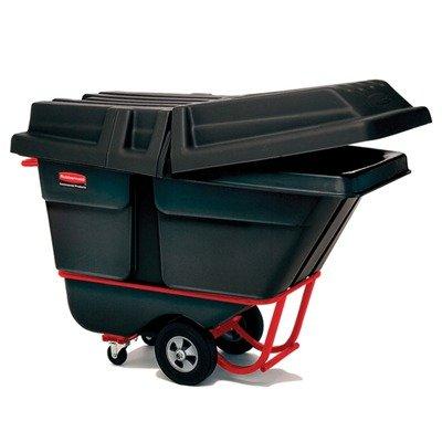 Forkliftable Tilt Truck, Rectangular, Plastic, 1250-Lb Cap., (1,250 Lb Cap)