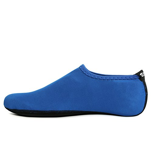 SENFI Unisex Water Skin Shoes Barefoot Aqua Socks For Pool Water Aerobics Exercise 01blue HVdgr