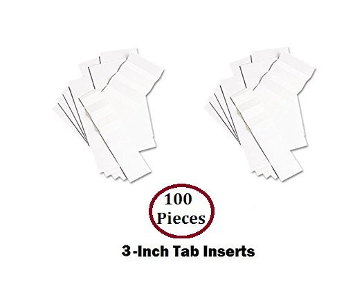 1InTheOffice Hanging Folder Tab Inserts, 3-1/2
