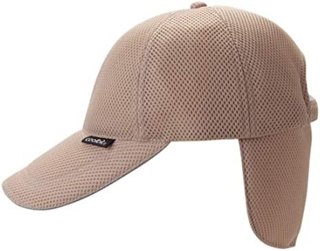 ヒンヤリ冷える帽子・クールビット(coolbit)キャップCBSPCP82ベージュ色 後ろカバー部を水に浸し気化熱で冷える!暑さ・熱中症対策に!夏のアウトドアが涼しく爽快!フラップ涼令構造が特許取得商品。