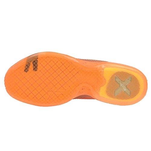 NIKE Herren Kobe X Basketballschuh Merlot / Metallic Gold-Bösewicht Red-total Orange