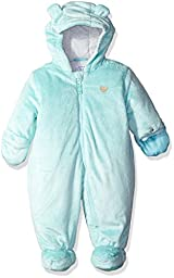 Carter\'s Girls\' Velboa Pram Suit with Ears, Turquoise, 6/9 Months