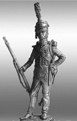 HISTORICAL TIN FIGURES FRANCE PRIVATE SOLDIER GUARDS MARINE CORPS 1810 54MM 1/32 NV53