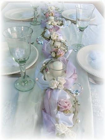 1,2m Gesteck rosa weiß Hochzeit Taufe Tischdeko: Amazon.de: Küche ...