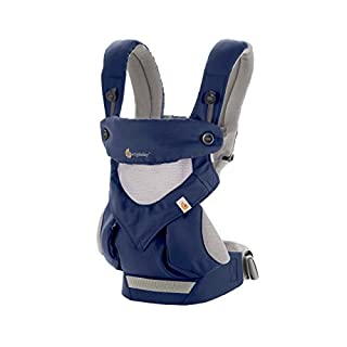 Ergobaby 360 All-Position Baby Carrier with Lumbar Support and Cool Air Mesh (12-45 Pounds), French Blue