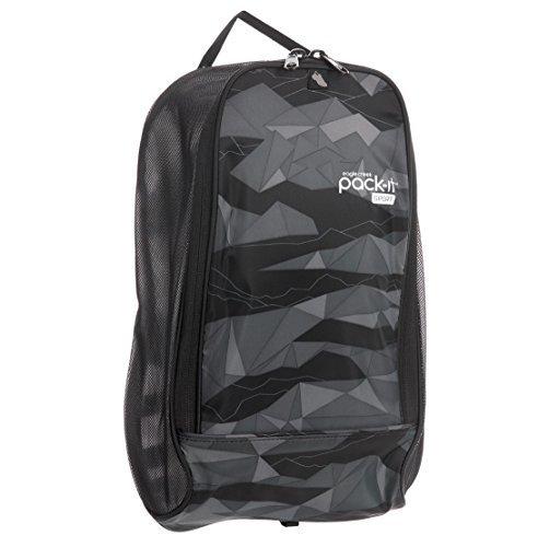 Eagle Creek Pack-It Sport Shoe Locker Large (One Size, Geo Scape Black)