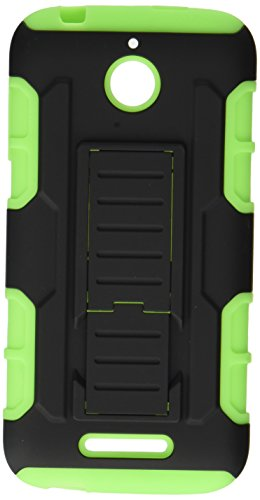(Desire 510) Car Armor Stand Protector Cover (Rubberized) - Retail Packaging - Black/Green ()