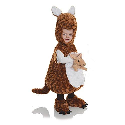 Kangaroo Costume Toddler (Underwraps Baby's Kangaroo Belly-Babies, Brown/White, X-Large)