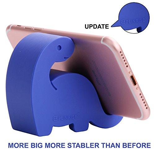 Plinrise Animal Desk Phone Stand, Update Dinosaur Stripe Silicone Office Phone Holder, Creative Phone Tablet Stand Mounts, Size:1.3 X 3.1 X 2.8(Navy Blue)