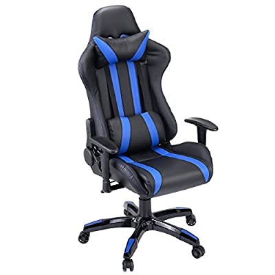 Giantex Gaming Chair Racing Style High Back PU Leather Executive Office Chair with Headrest and Lumbar Support Ergonomic Home Office Computer Desk Task Chair by Giantex