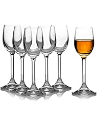 Crystal Clear Liquor Drinking Shot Glasses Set Of  Hard Small Durable And