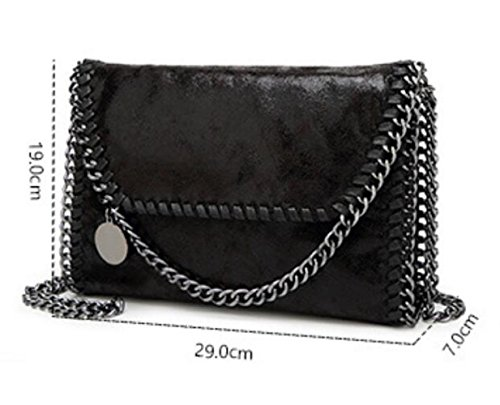 Casual Clutch Woman Chain Body Bag Wlfhm Blue Handbag Shoulder Bag Cross Bag fqxZwwYTg