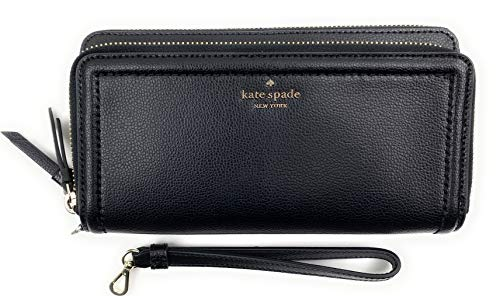 KATE SPADE PATTERSON DRIVE ANITA BLACK WRISTLET WALLET, Medium