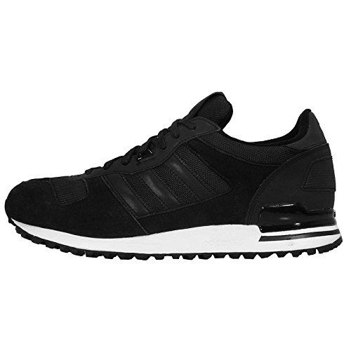 Adidas Men's ZX 700 KTC, BLACK/BLACK/WHITE, 10.5 M US