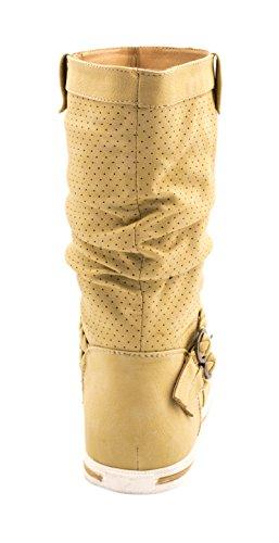 Elara - Botas Chelsea Mujer Beige