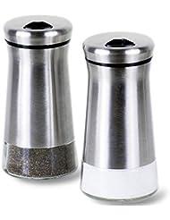 Amazoncom Stainless Steel Salt Pepper Shaker Sets Salt