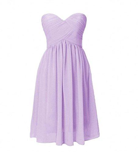 Kleider Cocktail Ballkleider Kleider Abendkleider Partykleider Lilac Jugendweihe La mia Mini Braut Traegerlos Chiffon A Linie Xvqfz8wU