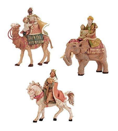 3-Piece Fontanini 5'' Three Kings On Animals Christmas Nativity Set #65244 by Roman