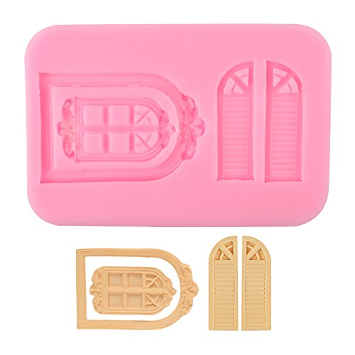 Delidge Vintage Fairy Garden Fairy Or Gnome Home Door and Window Silicone Mold for Sugarcraft, Chocolate, Fondant, Resin, Polymer Clay, Soap Making,Silicone Sugarcraft Mold Gumpaste(Color Random) C2343XX