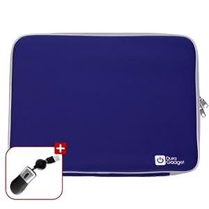 Duragadget - Funda para ordenador portátil 18 pulgadas, incluye mini-ratón USB, color azul
