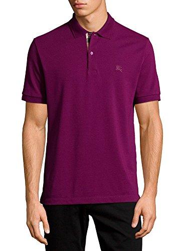 Burberry Brit Mens Check Placket Polo Shirt Fit  Deep Purple   Xxlarge  Deep Purple Amethyst