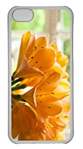 case personalize cover yellow clivias PC Transparent case for iphone 5C
