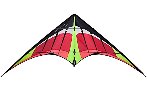 Prism Hypnotist Dual Line Framed Stunt Kite with 75' Tube Tail Bundle (3 Items) + Prism 75ft Tube Tail + WindBone Kiteboarding Lifestyle Stickers + Key Fob (Fire) by Prism, WindBone (Image #3)